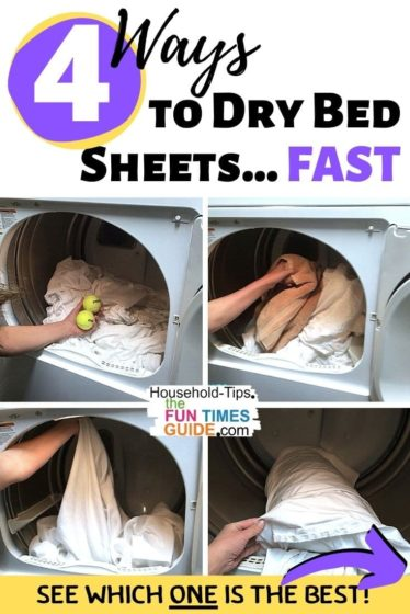 4 ways to dry bed sheets FAST... see which one is the best!