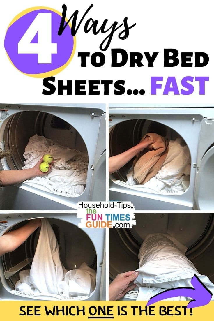 How To Dry Bed Sheets Quickly In The Dryer Without A Tangled Mess (...It\'s The Most Frustrating Part About Washing & Drying Bed Sheets, Right?!)