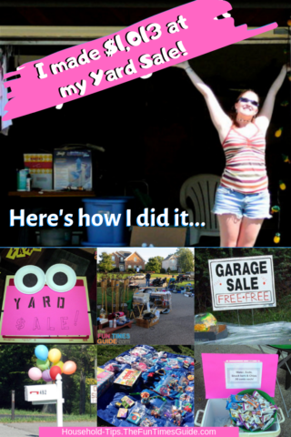 Yard Sale Tips - how I made $1,013 at my Yard Sale... and you can too!