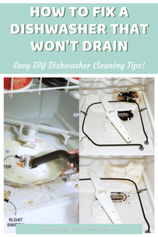 How to fix a dishwasher and remove the black gunk from the dishwasher filter.