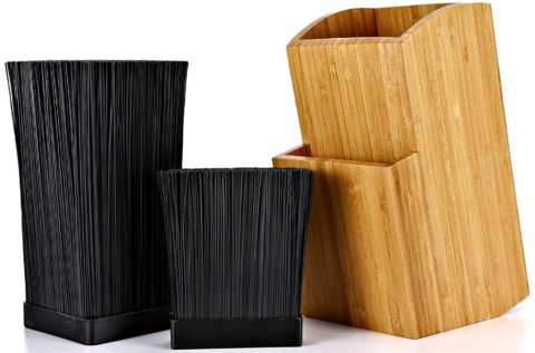 Bamboo universal knife block on Amazon