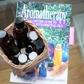 My favorite aromatherapy book and my bottles of Essential Oils.
