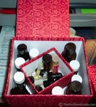 My aromatherapy oils in a cute little box... that smells GREAT now!
