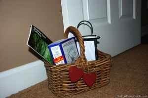 This is a medium-sized basket used as a door stop. Larger baskets work great too. photo by Lynnette at TheFunTimesGuide.com