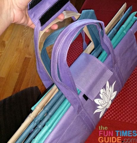 The handles on the Lotus bags are super thick and durable.