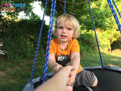 He often wants me to be on the swing with him... so a bigger nest swing is in the plans!