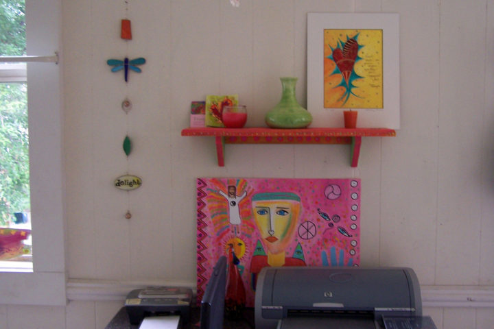 Best colorful wall shelf