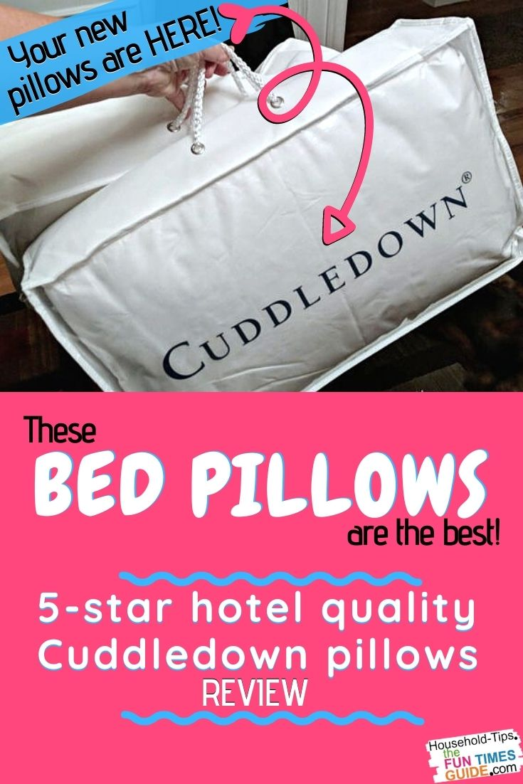 Cuddledown Bed Pillows Review: Our Old Down Pillows Lasted 10 Years... It\'s Time For New Down Pillows From Cuddledown!