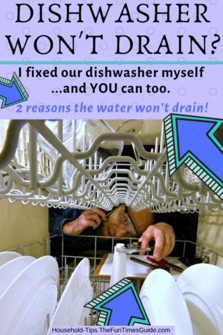 Dishwasher won't drain water? Here's how to fix a dishwasher yourself... like I did!