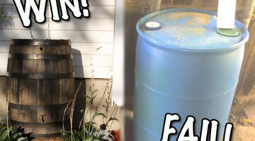 Pretty Rain Barrels: 3 Cheap DIY Rain Barrels That Actually Look Nice!
