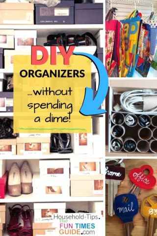 DIY organization ideas without spending a dime!