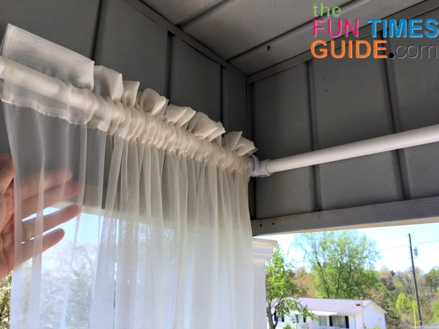 Diy Curtain Rods For Outdoor Porch Curtains See How I