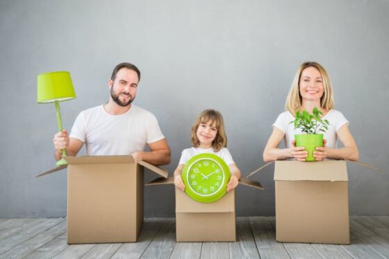 Me and my family decided to be more ecofriendly with our move this time!
