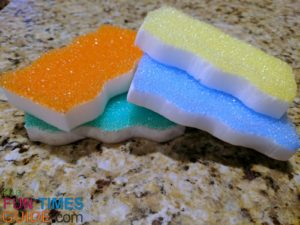 color coded eraser daddy sponges