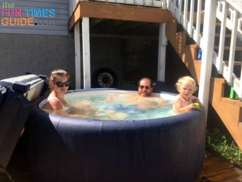 Our Softub is the perfect size for our backyard deck and we enjoy a lot of peaceful family time in our hot tub.
