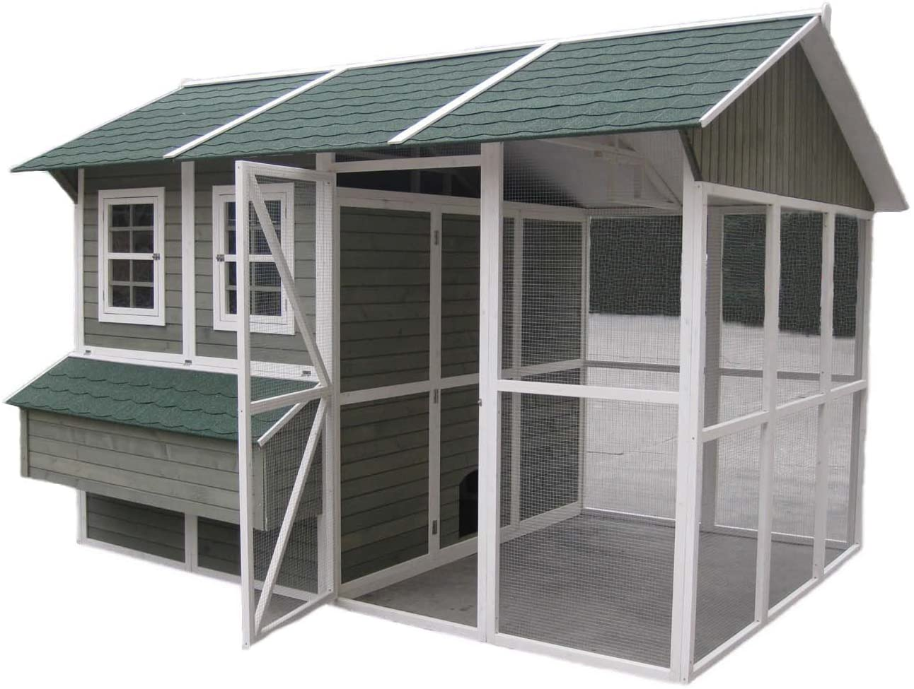 This is an example of a fancy chicken coop!