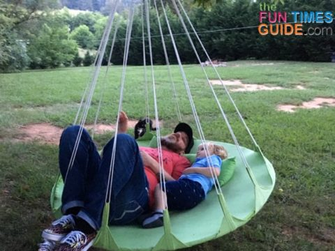 I like how portable this hammock swing is... you can easily remove it and hang it from another tree that has the proper support.