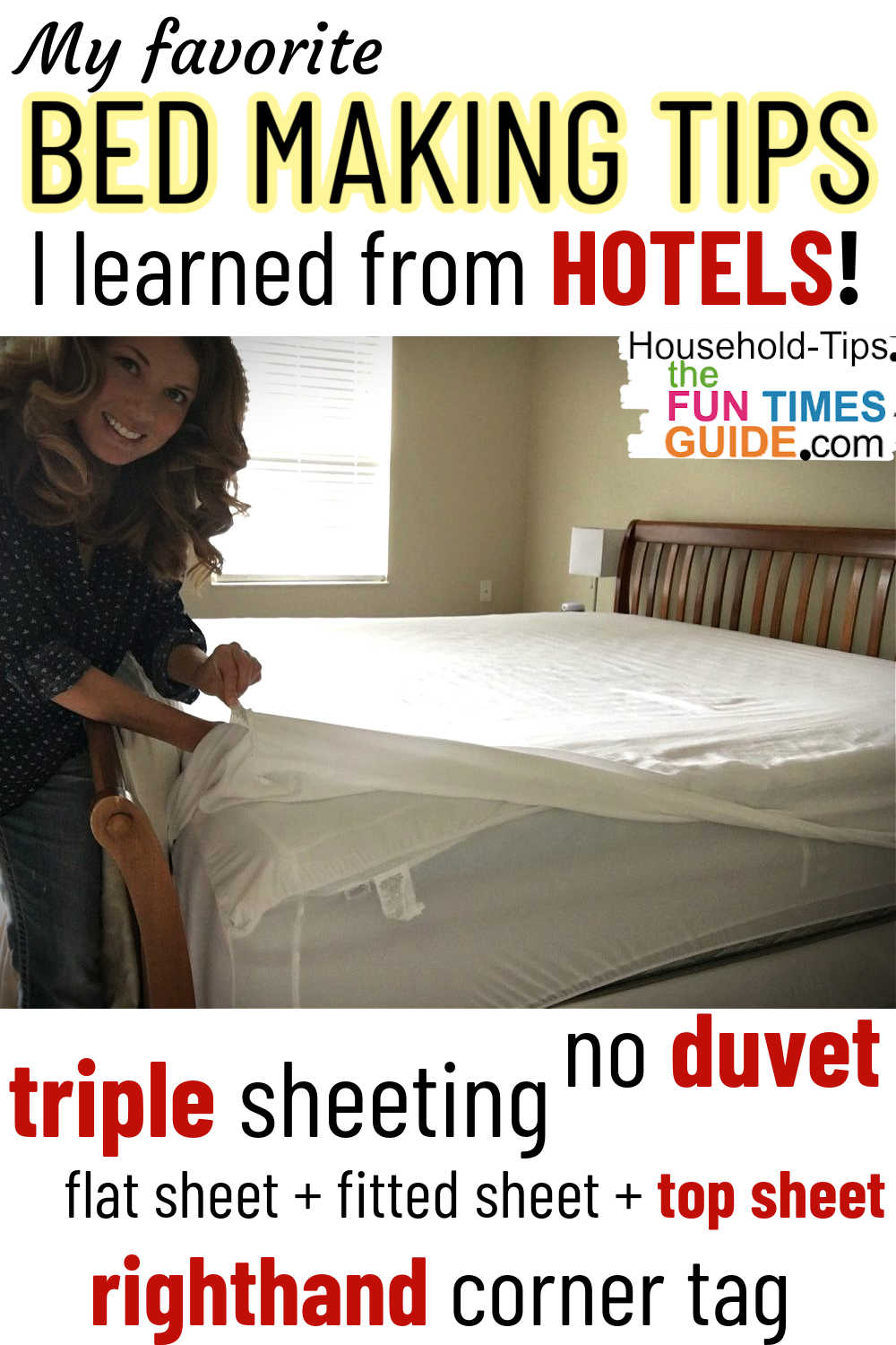 Make Your Bed Quickly Like Hotels Do - Here\'s How To Do Triple Sheeting And Eliminate The Need For A Duvet Cover!