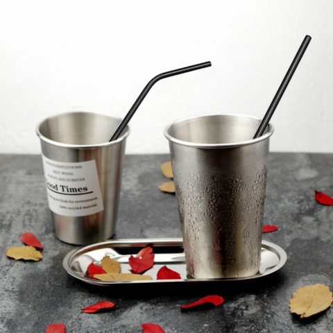 These full-size reusable metal straws will last a lifetime and they're easy to clean!