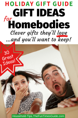 Holiday Gift Guide - clever gift ideas for homebodies!