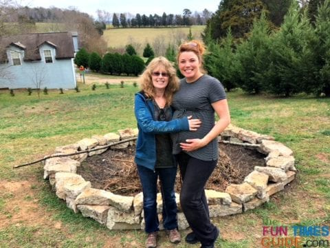 My mom and I built this firepit when I was 42 weeks pregnant - the day before my son was born!
