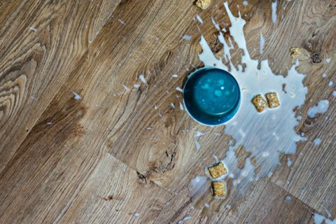 All you need to clean luxury vinyl flooring is a damp mop, a little bit of dish soap, and maybe some vinegar.