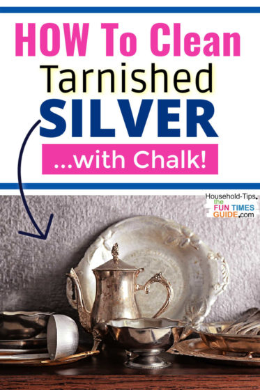 How to clean tarnished silver with chalk