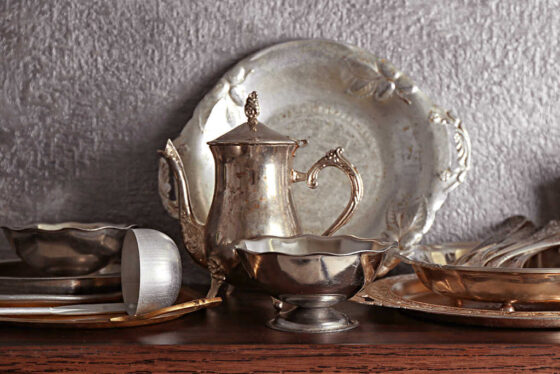 See how to clean tarnished silver using chalk!