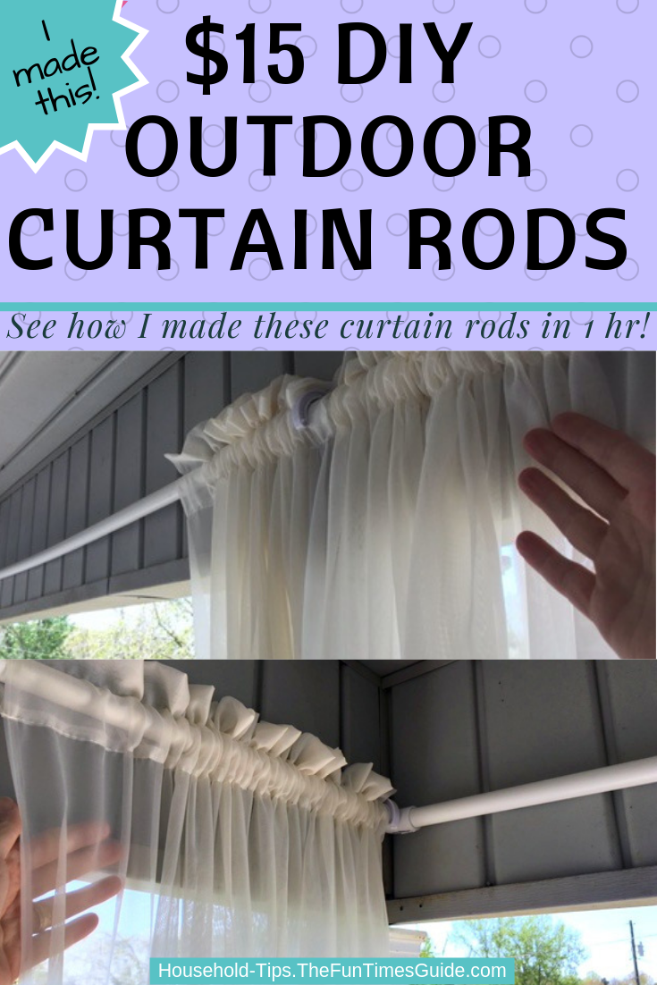 DIY Outdoor Curtain Rods For Porch Curtains: Here's How To Make PVC Pipe Curtain Rods For $15