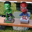 An example of all the trinkets for sale... The Incredible Hulk and Spider Man figurines.