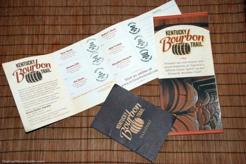 Our 'passports' from completing the Kentucky Bourbon Trail - visited 6 bourbon distilleries in 3 days