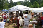 Everywhere you looked... a mega yard sale with hundreds of people!
