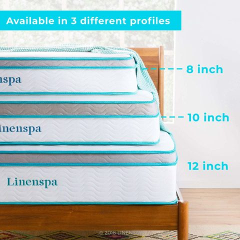 A Linenspa memory foam & innerspring hybrid mattress for less than $200!