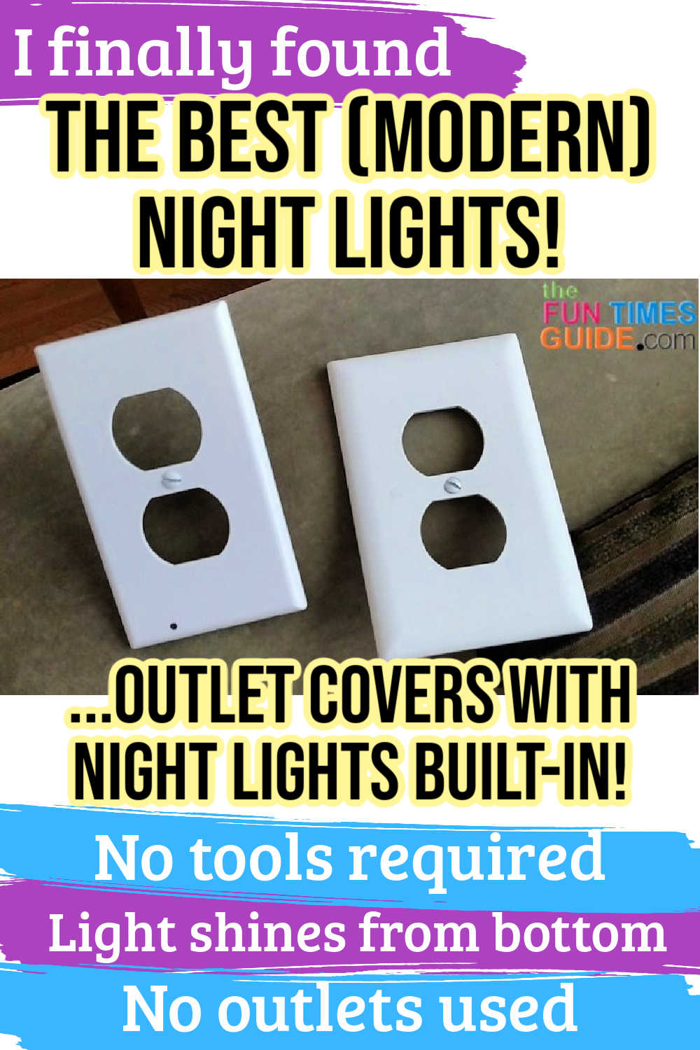 Outlet Cover Night Lights: These Space-Saving LED Night Light Outlets Replace Your Regular Outlet Covers (Leaving Your Outlet Plugs Free For Other Things!)