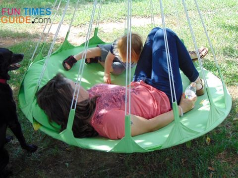 This hammock swing is big enough for my son and I to lounge on together.