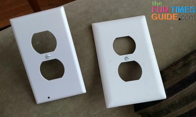 Snap power night light this space saving led night light replaces night light outlet plates mozeypictures Choice Image