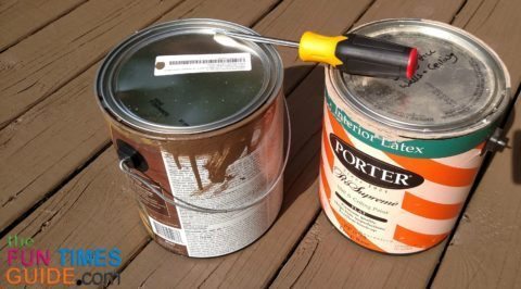 opening-old-leftover-paint-cans