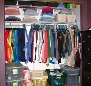 An organized closet. photo by Liz (perspicacious.org) on Flickr