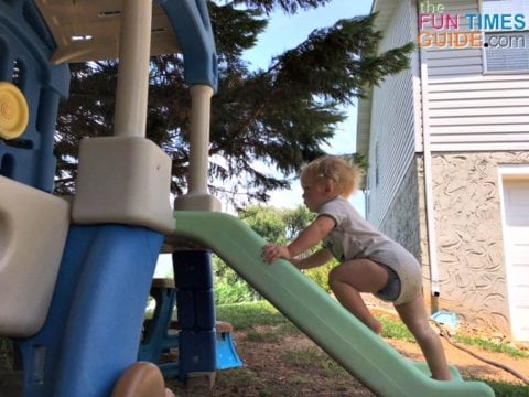 My son, the little climber, really enjoys his new Little Tikes outdoor climber!