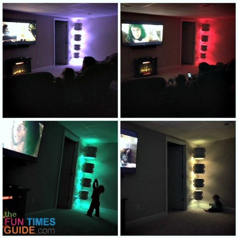 This LED light strip has many colors and many light settings to choose from.