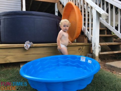 We really like the locking lid on the Softub - it's added security when you have a toddler.