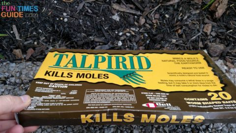 Talpirid is an all-in-one mole poison and worm bait in one.