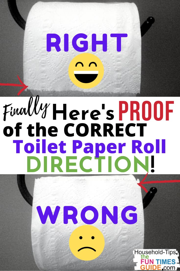 Toilet Paper Orientation: Over vs. Under (Proof That The Correct Toilet Paper Roll Direction Does Matter!)
