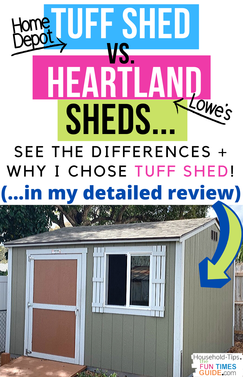 Are Home Depot Tuff Sheds Good? My Wood Tuff Shed Review [With Comparisons To Heartland Sheds From Lowes]