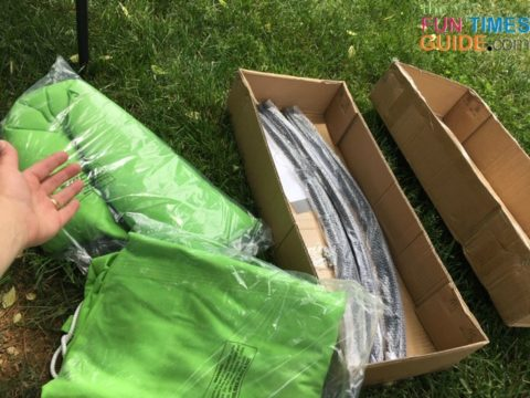 Unboxing the Sorbus daybed hammock swing.