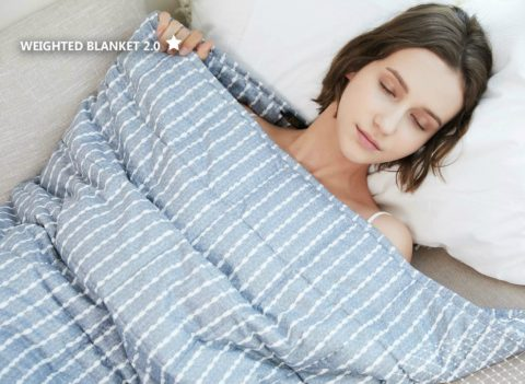 A weighted blanket helps you sleep better and reduces anxiety!