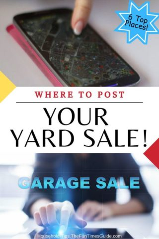 Yard Sale Advertising - where to post your yard sale online