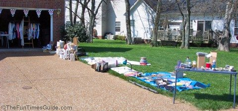 yard-sale-tables-blankets-tarps-tv-trays