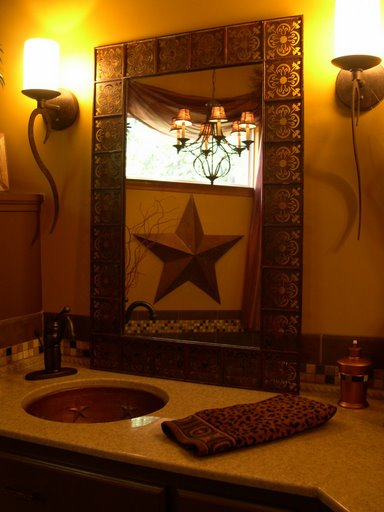 Custom Copper Sink With Texas Stars By Champagne